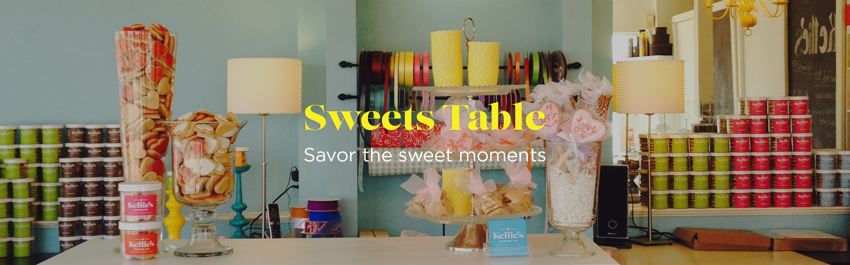 sweets table banner